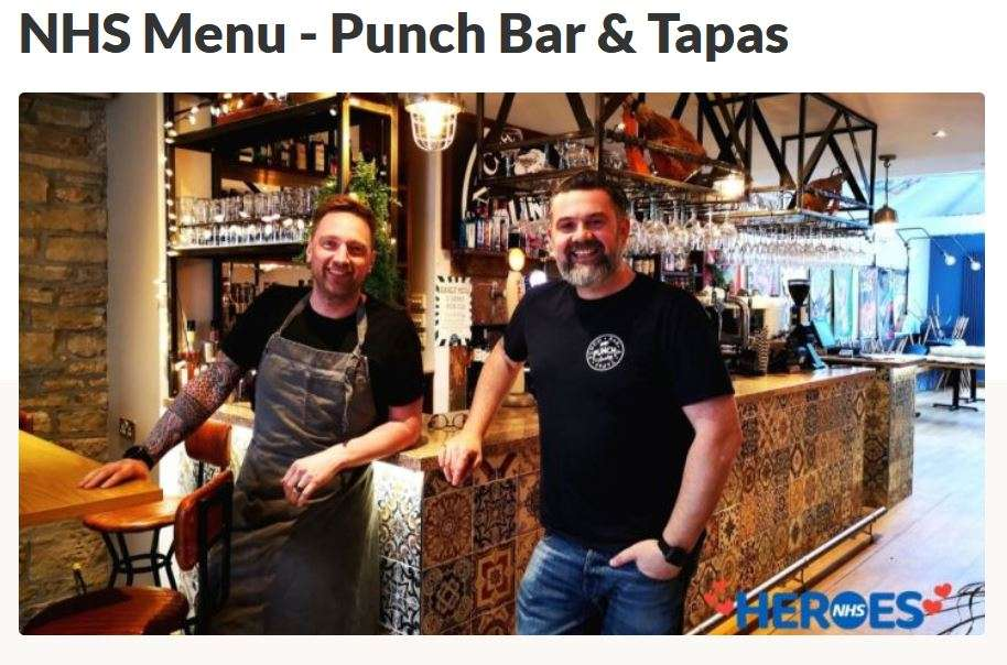 NHS Free Meals - Punch Bar & Tapas